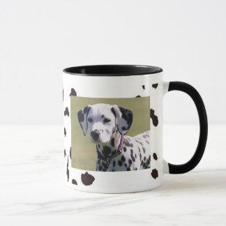 Caneca manchada de Drinkware com a foto do cão de