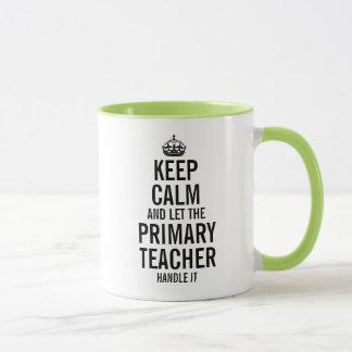 Caneca Mantenha a calma e deixe o professor preliminar