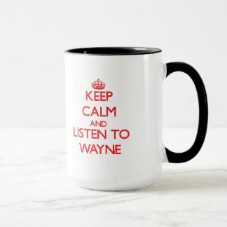 Caneca Mantenha a calma e escute Wayne