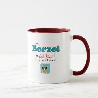 Caneca Meu Borzoi é todo o isso!