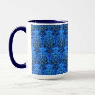 Caneca MUG Jimette Desenho azul e branco