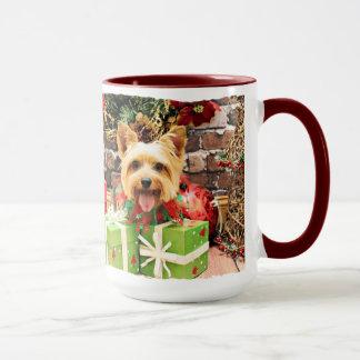 Caneca Natal - Terrier de seda - Haley
