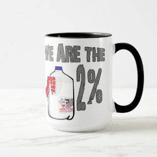 Caneca Nós somos o leite de 2%! Engraçado ocupe a paródia