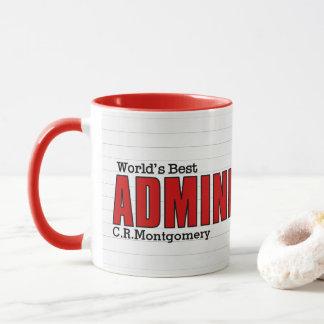 Caneca O melhor profissional administrativo do mundo