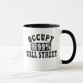 Caneca Ocupe Wall Street 99%