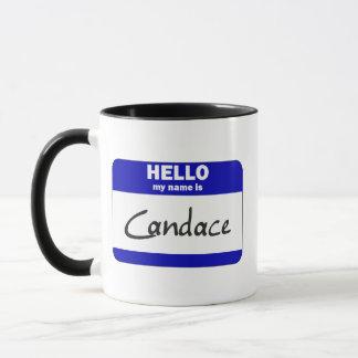 Caneca Olá! meu nome é Candace (azul)