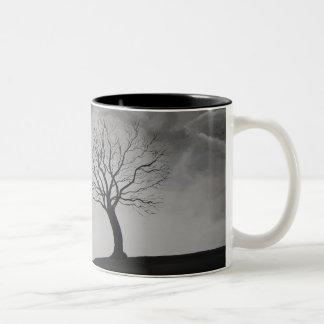 """""""Caneca original da arte da árvore só"""" Caneca Dois Tons"""