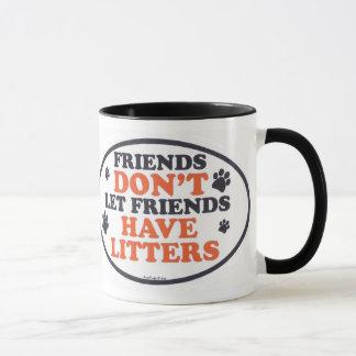 Caneca Os amigos não deixam amigos ter macas