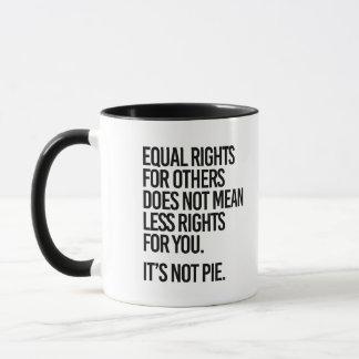 Caneca Os direitos iguais não são torta - - a Pro-Ciência