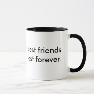 Caneca Os melhores amigos duram para sempre