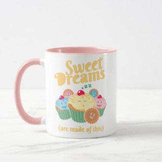 Caneca Os sonhos doces são feitos… de cupcakes e de