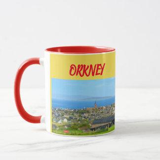 Caneca panorâmico das ilhas de Orkney