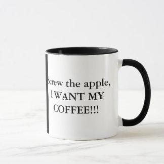 Caneca Parafuse a maçã, mim querem meu café!!!
