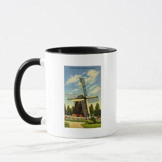 Caneca Parque vintage de Holland do moinho de vento,