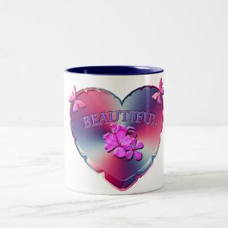 Caneca Pastel bonita do coração