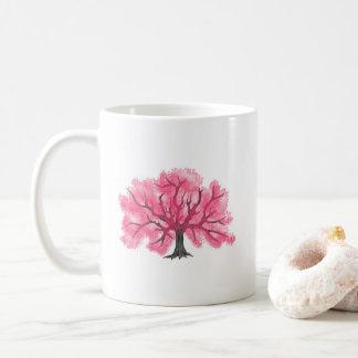 Caneca personalizada das flores de cerejeira