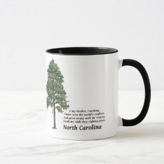 Caneca Pinhos Sighing de North Carolina