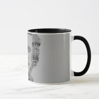 Caneca Poe black and white mug