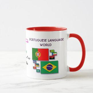 Caneca portuguesa do mundo da língua