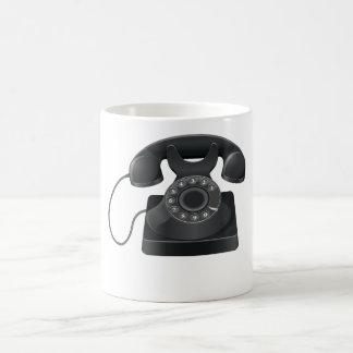 Caneca preta velha do telefone