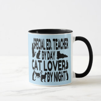 Caneca Professor do ensino especial do amante do gato