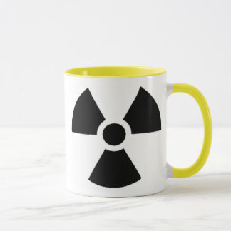 Caneca Recipiente de resíduos radioactivos oficial