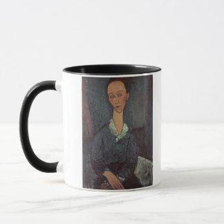 Caneca Retrato de uma mulher com um colarinho branco