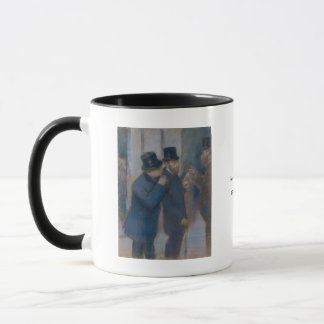 Caneca Retratos na bolsa de valores por Edgar Degas
