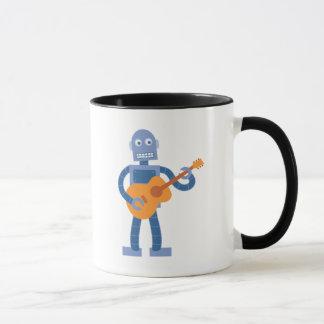 Caneca Robô da guitarra
