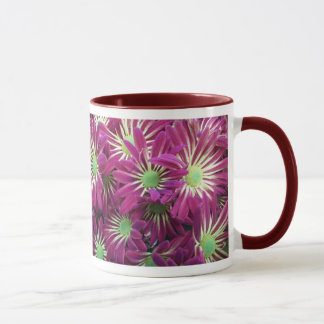 Caneca roxa Variegated da flor do áster