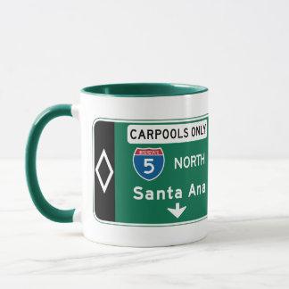 Caneca Santa Ana, sinal de estrada de CA