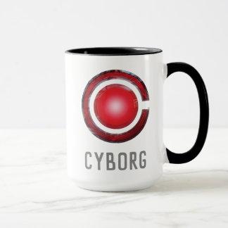 Caneca Símbolo de incandescência do Cyborg da liga de