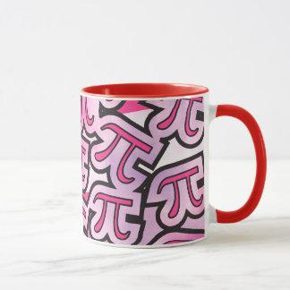 Caneca Social cor-de-rosa do Pi - presentes do dia do Pi