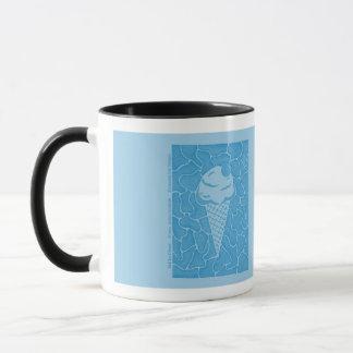 Caneca Sorvete macio (azul gelado)