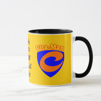 Caneca super da vitamina C do Vita-Man Cura-todas