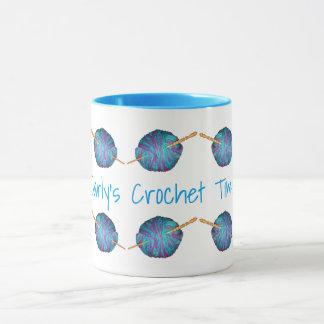 Caneca Tempo do Crochet, personalizado com seu nome