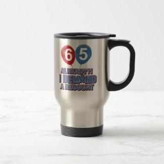 Caneca Térmica 65th design do aniversário