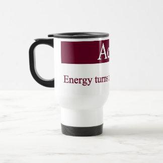 Caneca Térmica Ação - a energia transforma o pensamento na