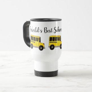 Caneca Térmica Amarelo do motorista de auto escolar do mundo o