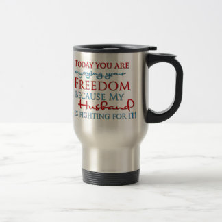 Caneca Térmica Aprecie sua liberdade devido a meu marido