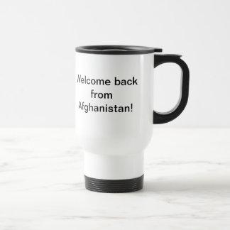 Caneca Térmica Boa vinda para trás de Afeganistão