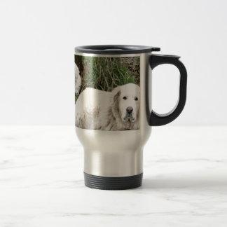 Caneca Térmica Cão e filhote de cachorro de grandes Pyrenees