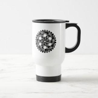 Caneca Térmica Cremalheira em preto e branco