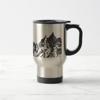 Caneca Térmica Desenho da montanha da tinta