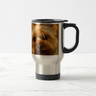 Caneca Térmica Espera para o cão de Yorkie Terrier do amor da