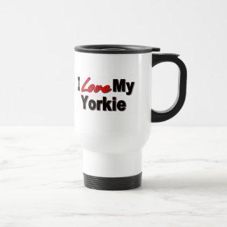 Caneca Térmica Eu amo meus presentes e roupa do cão de Yorkie