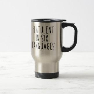 Caneca Térmica Flatulento em seis línguas