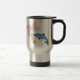 Caneca Térmica golfinho e palmeira