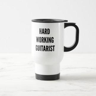Caneca Térmica Guitarrista de trabalho duro