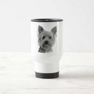 Caneca Térmica Imagem estilizado do yorkshire terrier